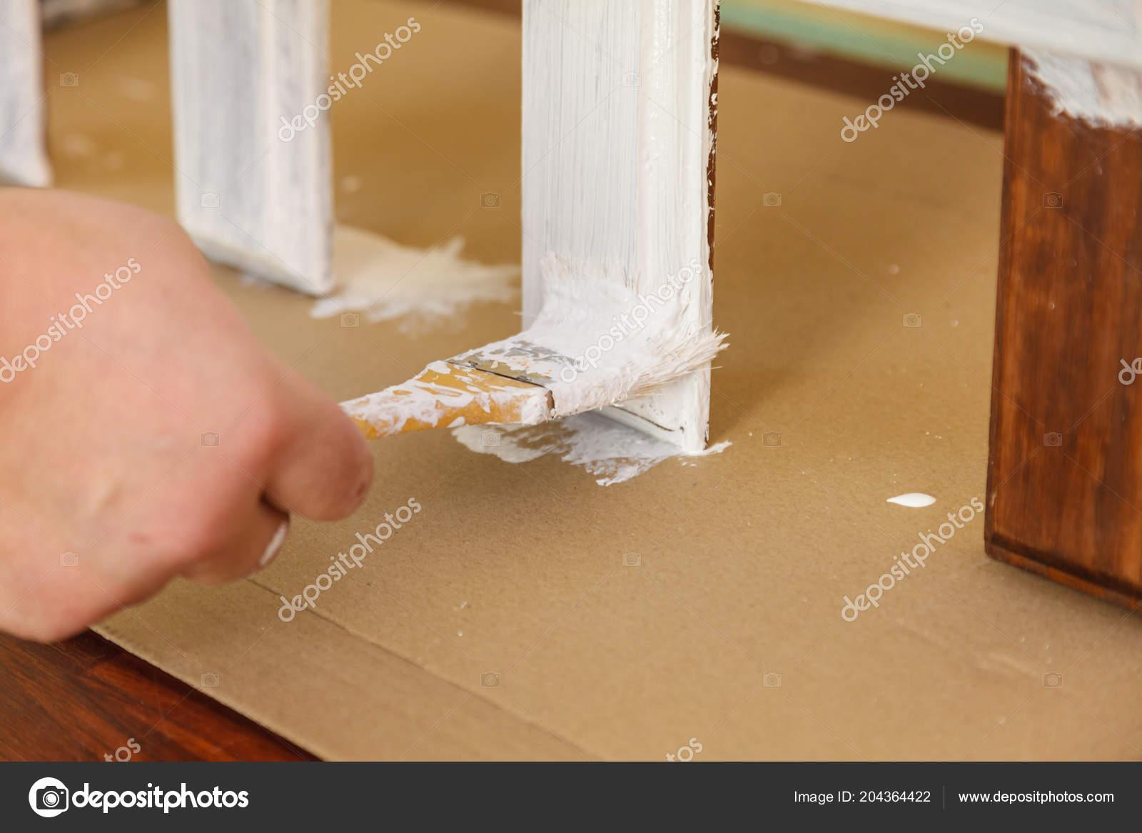 Home Decor Color Change Diy Concept Person Renovating Hanger