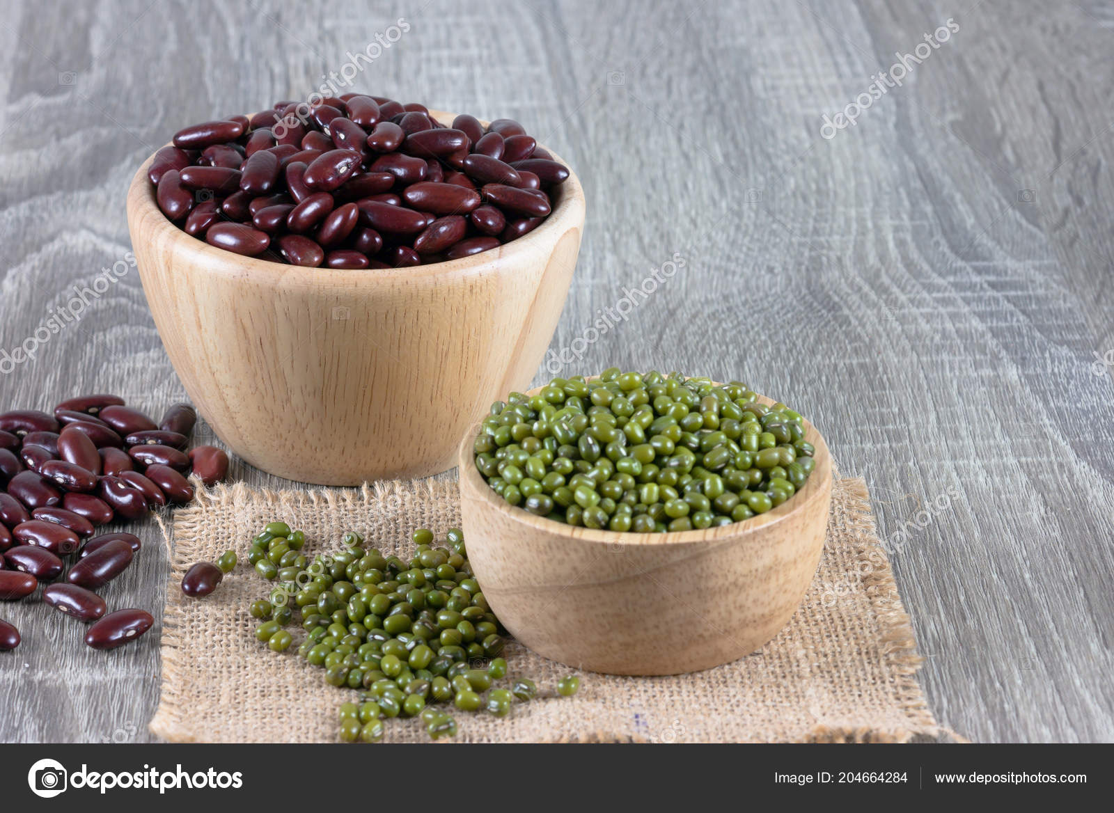 kidney bean table semi circle school mung bean red kidney bowl place wooden table copy stock photo