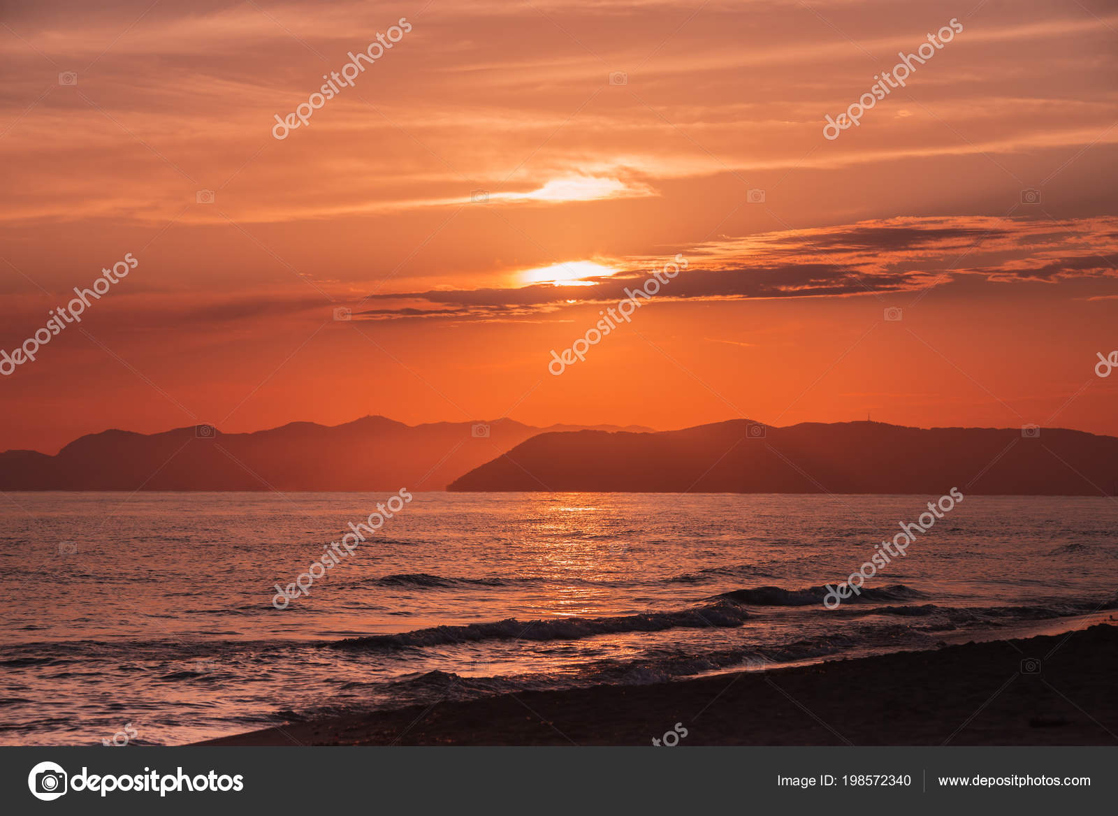 Sunset Over The Sea Backgrounds For Quotes Stock Photo Tarafoto