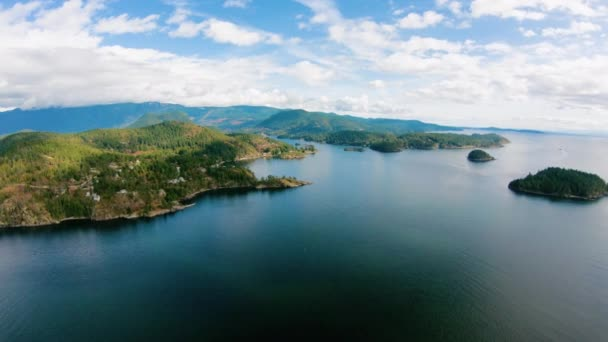 Daniel Point Pearson Island Lee Bay BC Coast Archipelago Aerial View