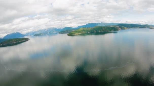 Desolation Sound Luftbild reflektierenden Wasser zufliegen Sarah Punkt Bliss Landung Sunshine Coast Bc