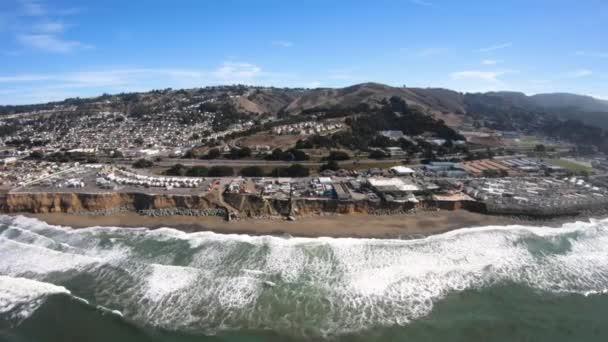Pacifica pobřeží Pacific Libuše Manor okolí antény nad Sea Beach View