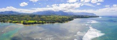 Kauai Hawaii Island Panoramic View Beach Valley Mountain Ocean