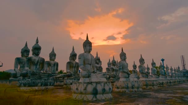 Nakhon Si Thammarat Buddha socha Thajsko video časová prodleva 4k