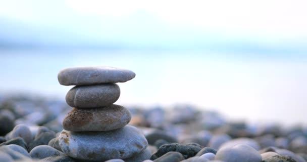 Closeup of pile of stones