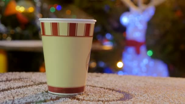 take away coffee cup in Christmas market