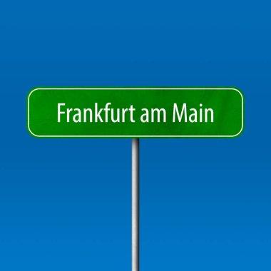 "Картина, постер, плакат, фотообои ""frankfurt am main - city sign, place name sign картины постеры города"", артикул 199085400"