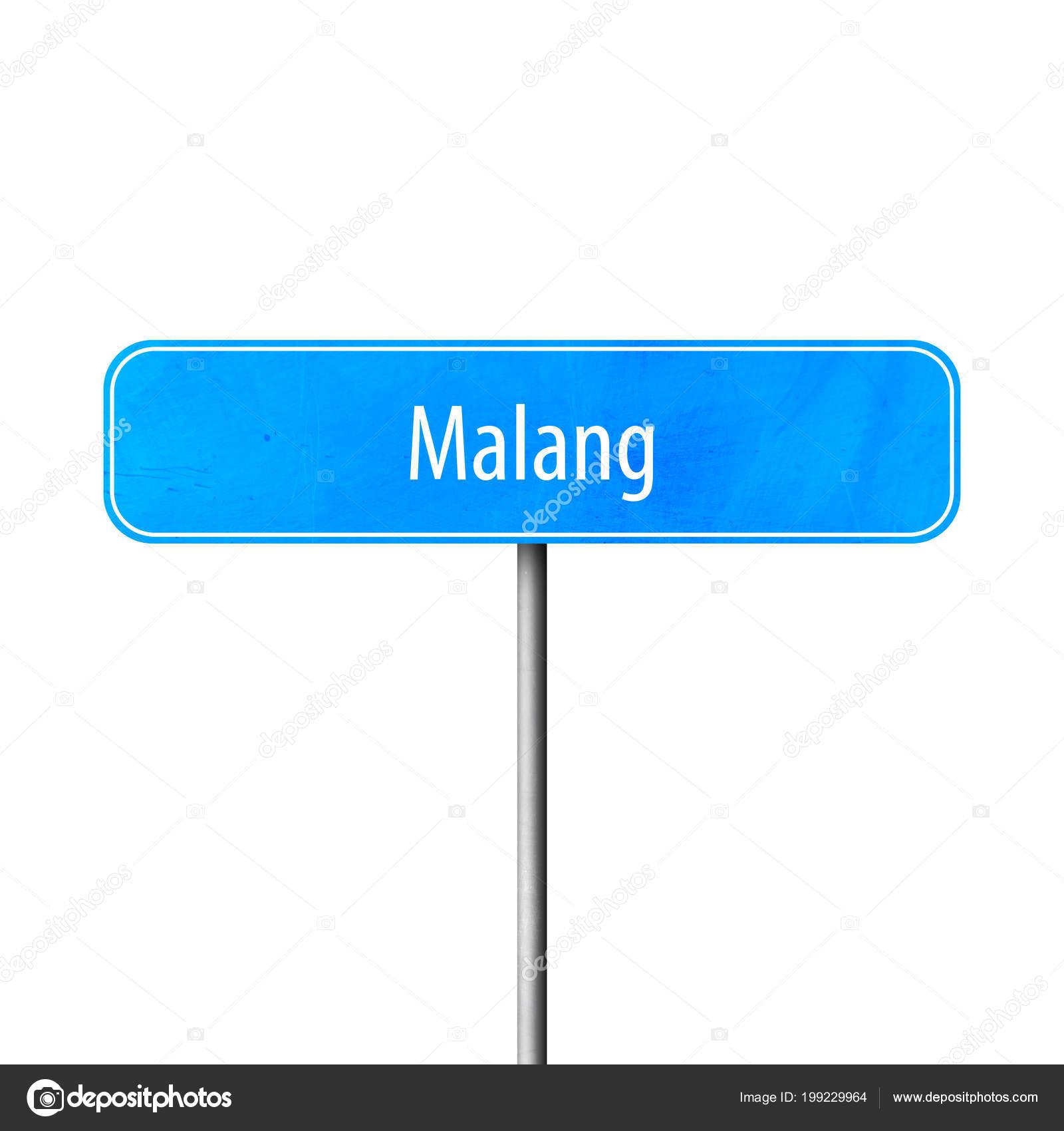 Malang Town Sign Place Name Sign Stock Photo C Markusbeck 199229964
