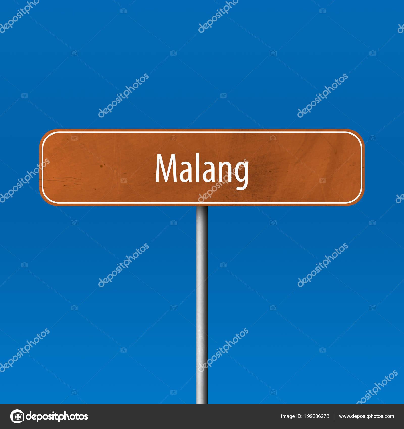 Malang Town Sign Place Name Sign Stock Photo C Markusbeck 199236278