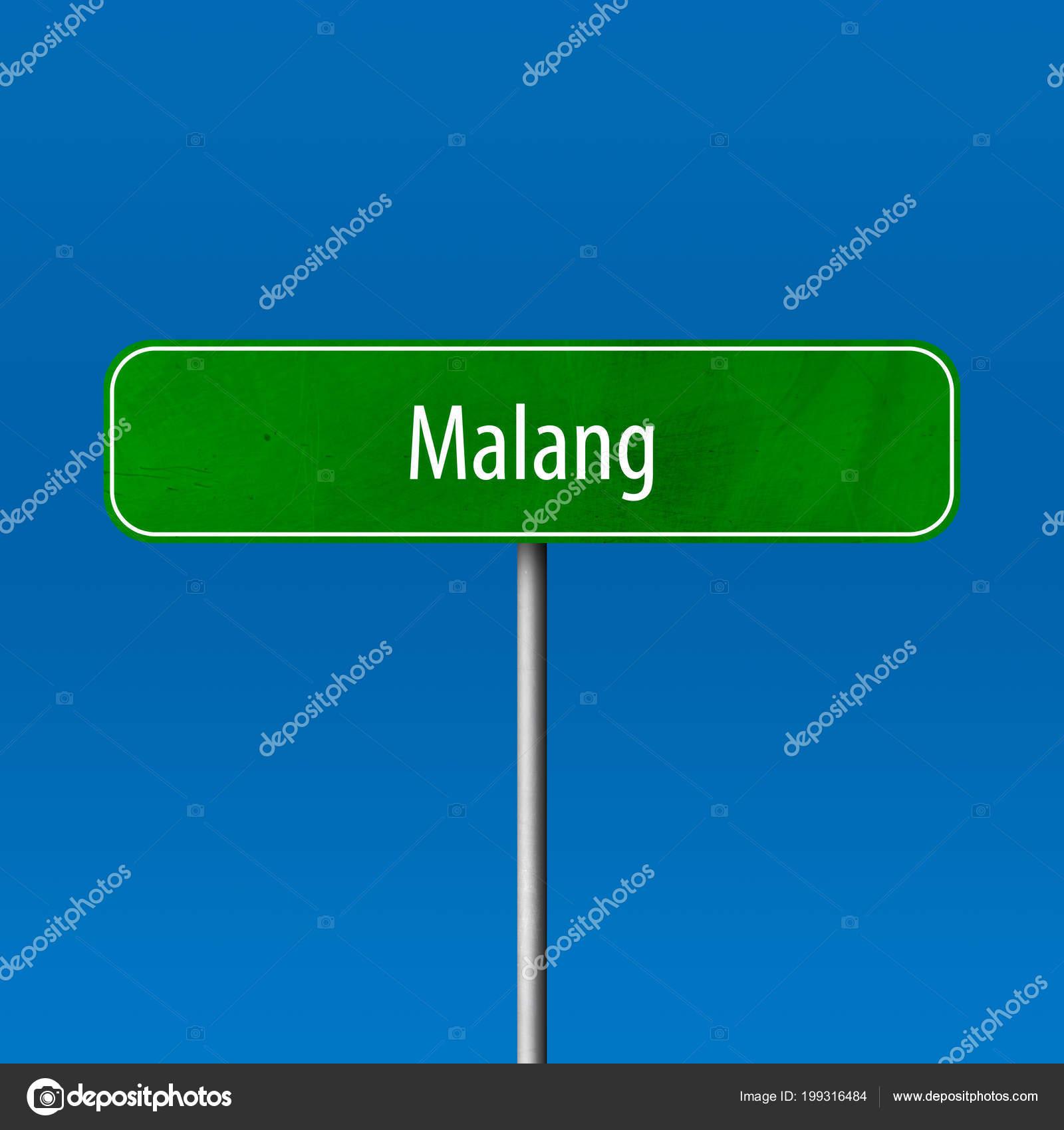 Malang Town Sign Place Name Sign Stock Photo C Markusbeck 199316484