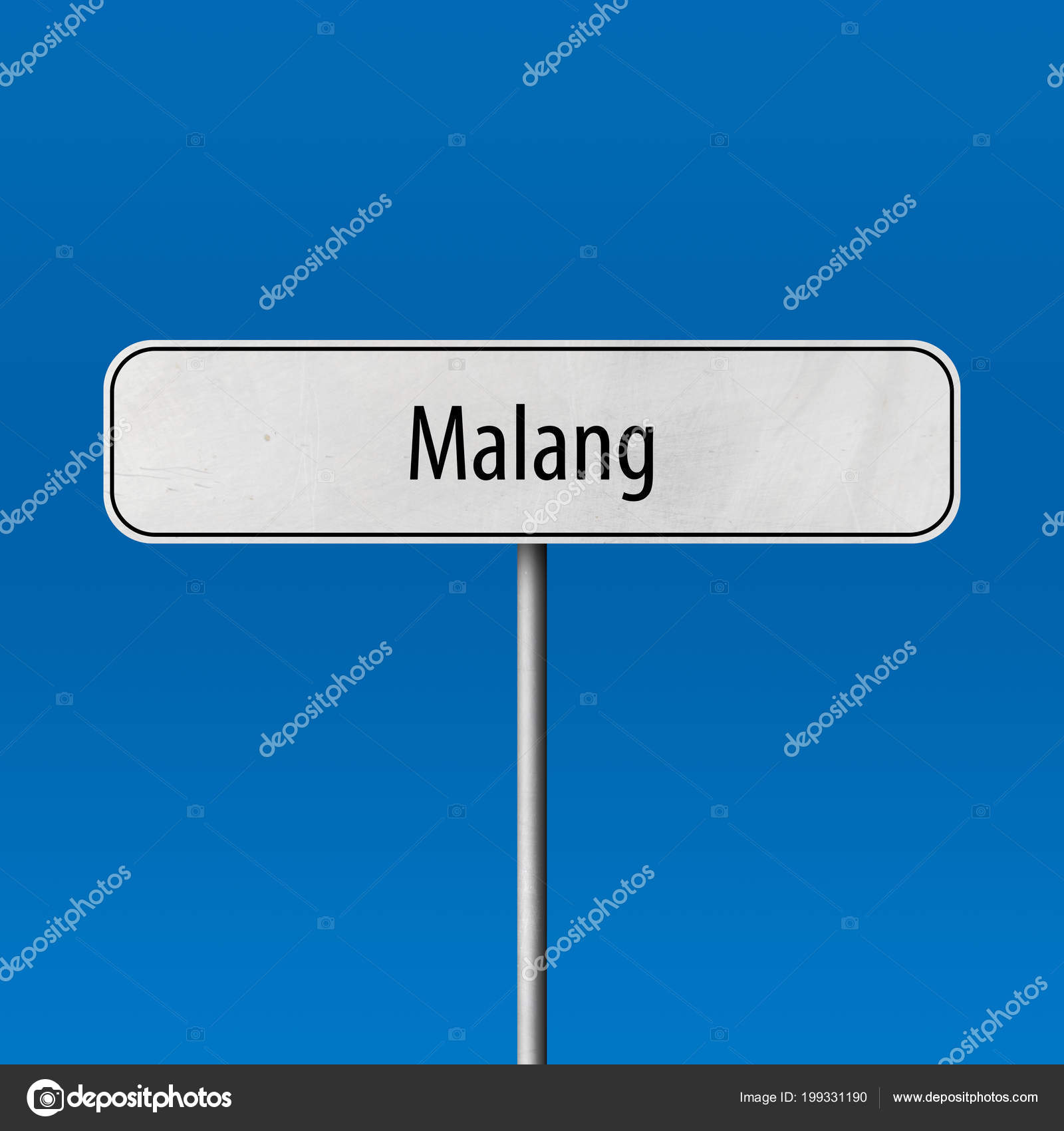 Malang Town Sign Place Name Sign Stock Photo C Markusbeck 199331190