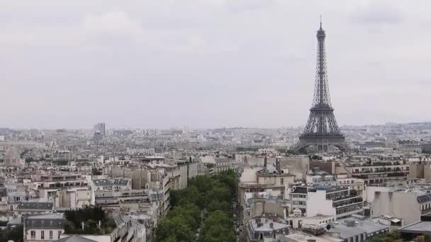 Eiffel tower, view from Arc de Triomphe