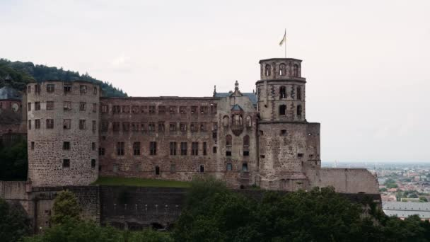 Hrad, zřícenina, Heidelberg, léto 2018