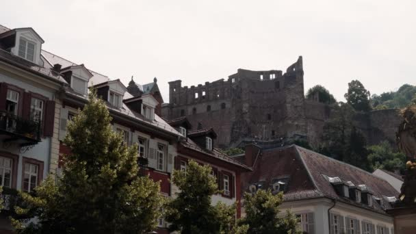 Heidelberg várrom, alacsony szög, nyári 2018