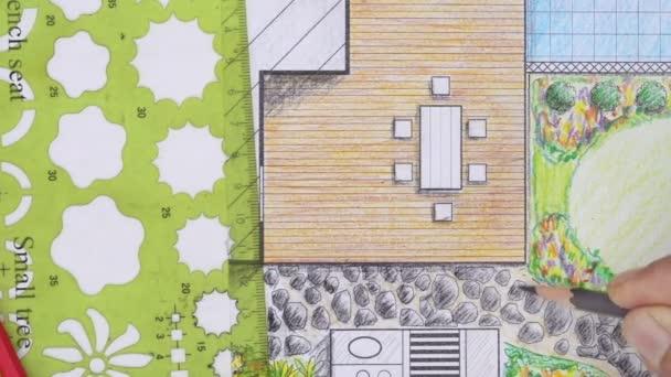 Zahradní architekt navrhnout terasu dvorku plán pro villa