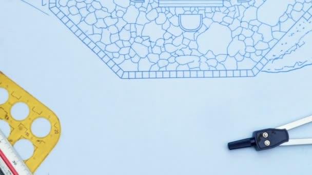 Plán zahradní architekt design backyard plán pro villa