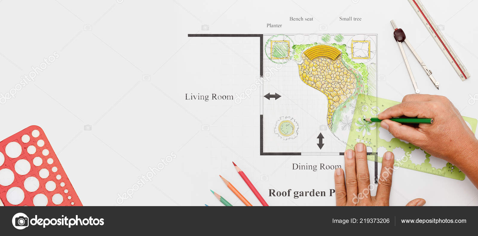 Terraza Jardín Casa Diseño Foto De Stock Toa55 219373206