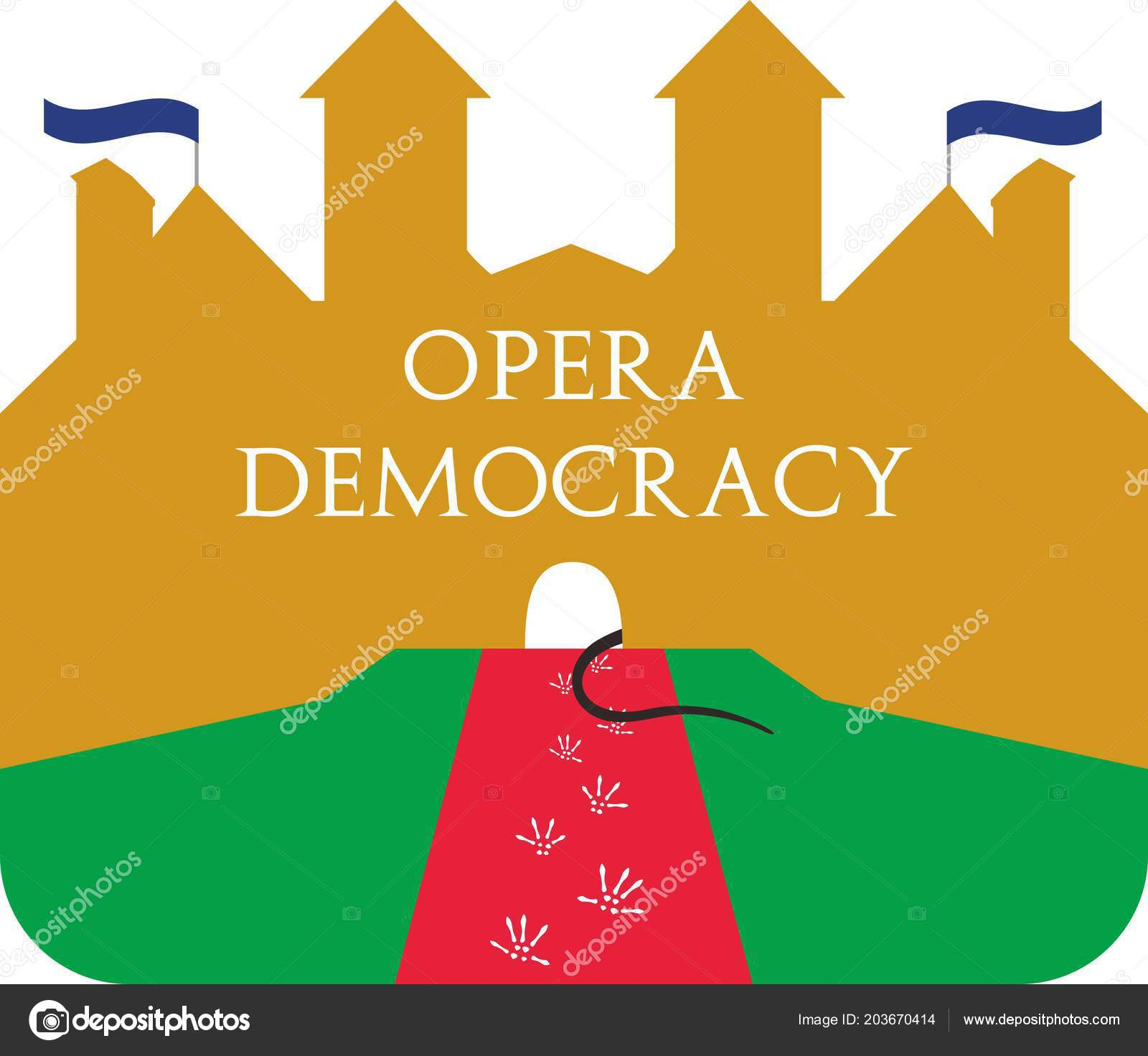 House Opera Satire Illustration Vector Politic Political View