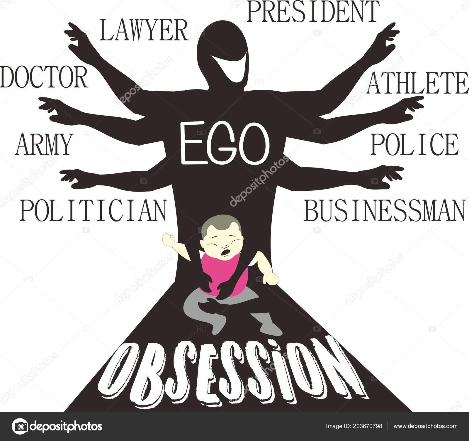 Ego Parental Obsession Satire Art Stock Vector C Asliemail70