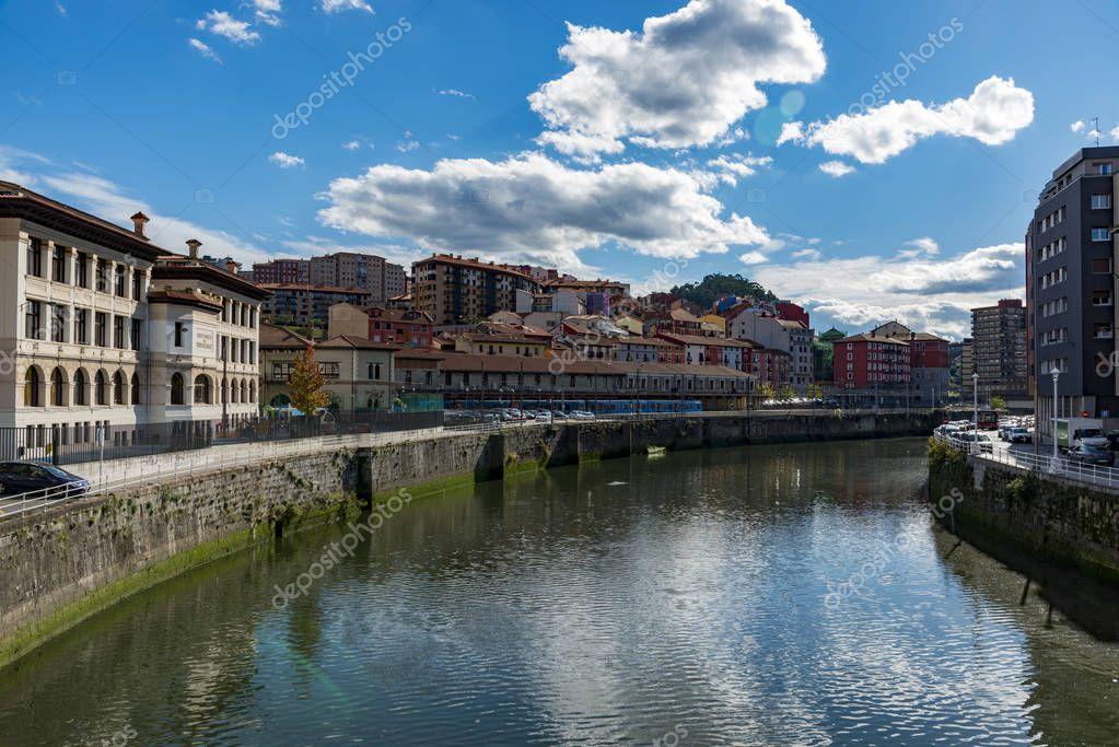 Ria del Nervion in Bilbao Spain
