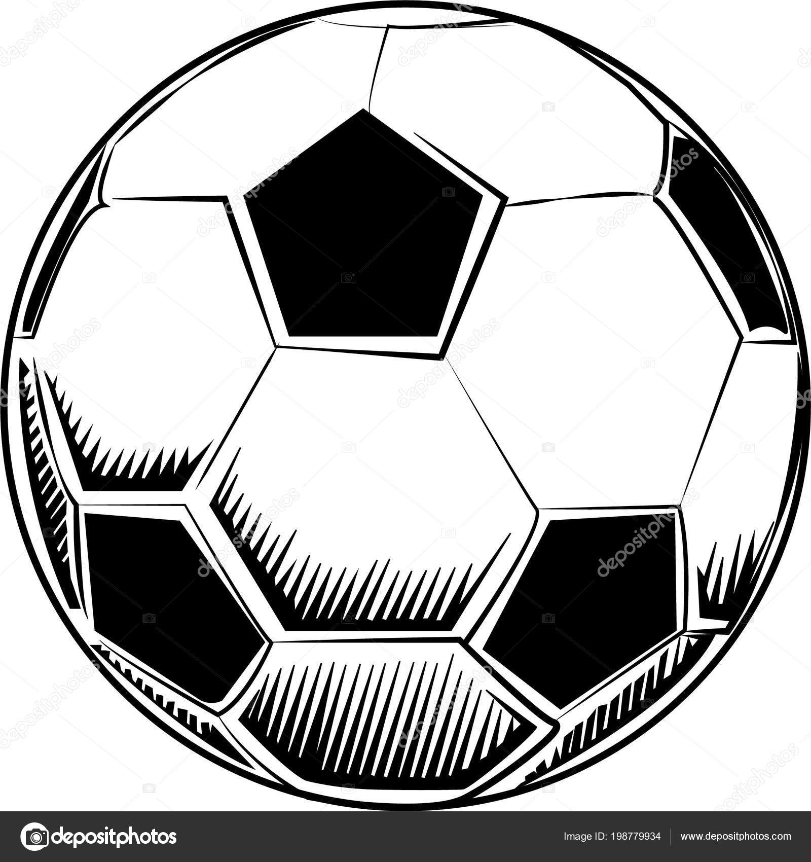 Dessin vectoriel ballon football image vectorielle gurcells 198779934 - Dessin de ballon de foot ...
