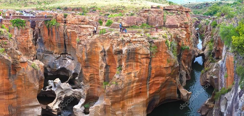 Bourke's Luck Potholes in South Africa - Raging waters have created a strange geological site