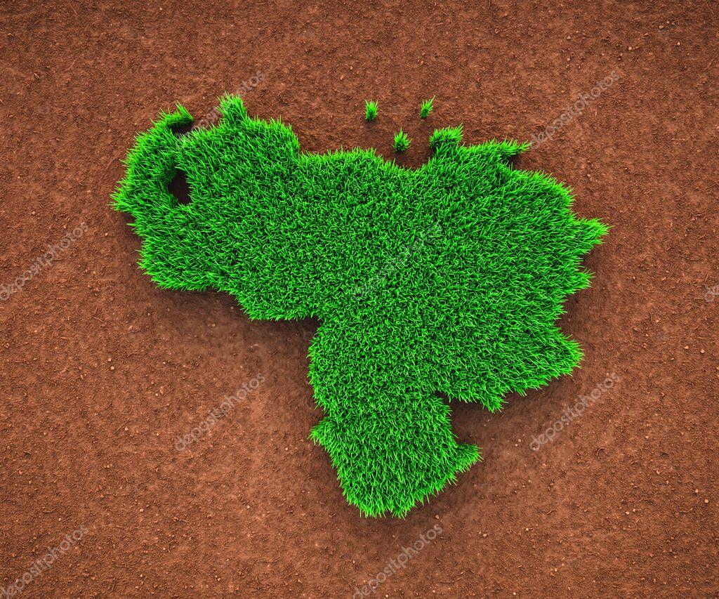 Grass map of Venezuela