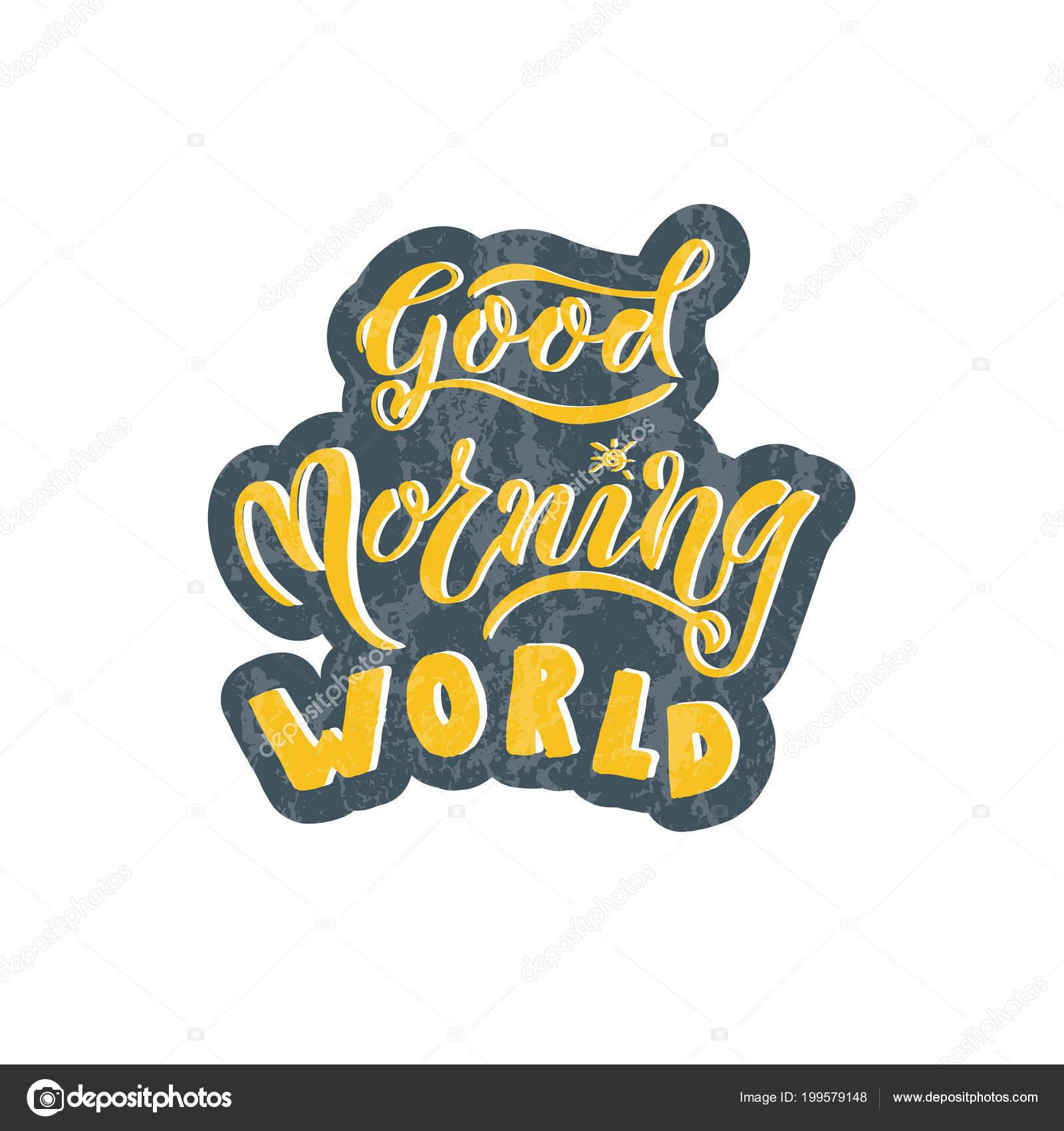 Eps Guten Morgen Welt Karte Vektor Illustration Vorlage Für