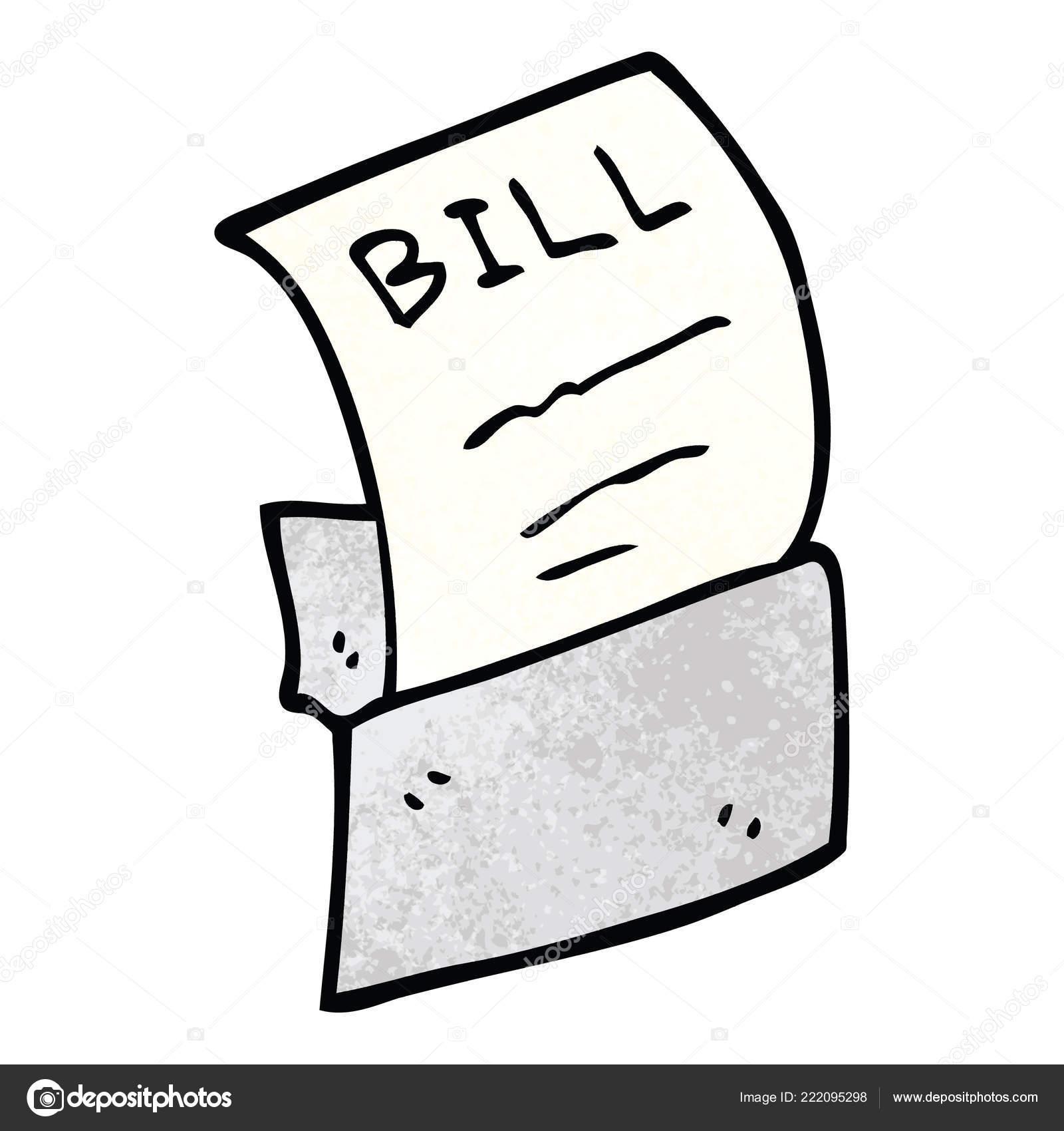 cartoon doodle schulden bill stockvektor. Black Bedroom Furniture Sets. Home Design Ideas