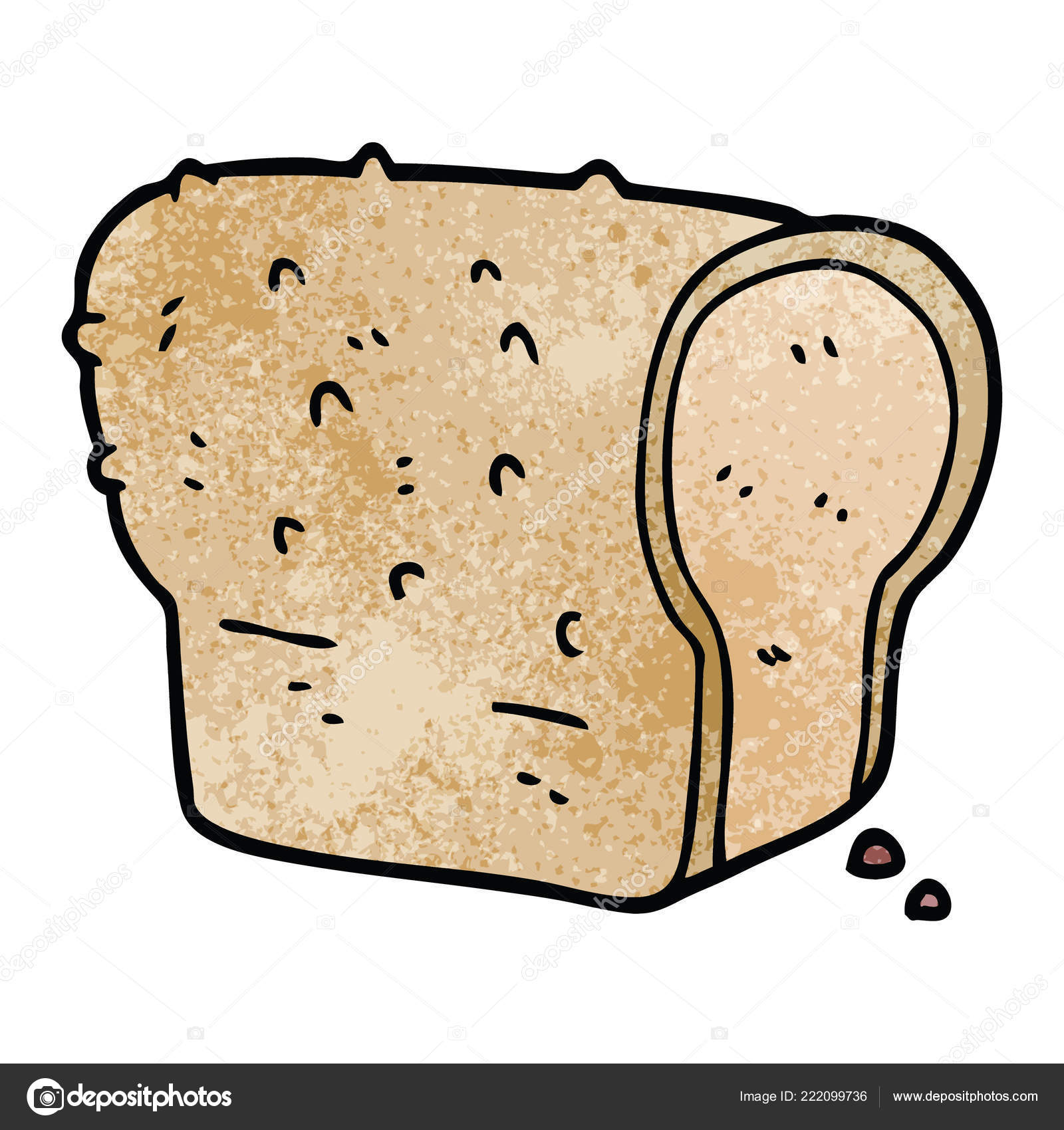 Cartoon Doodle Loaf Bread Vector Image By C Lineartestpilot Vector Stock 222099736