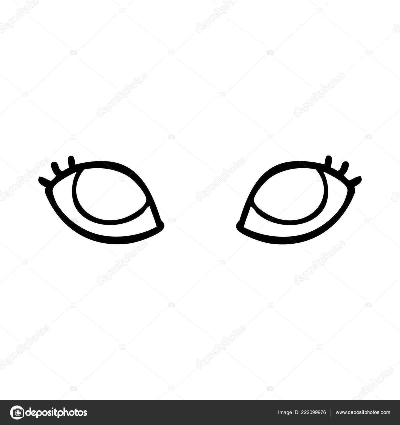 Linha Desenho Desenhos Animados Olhos Cinzentos Vetores De Stock C Lineartestpilot 222099976