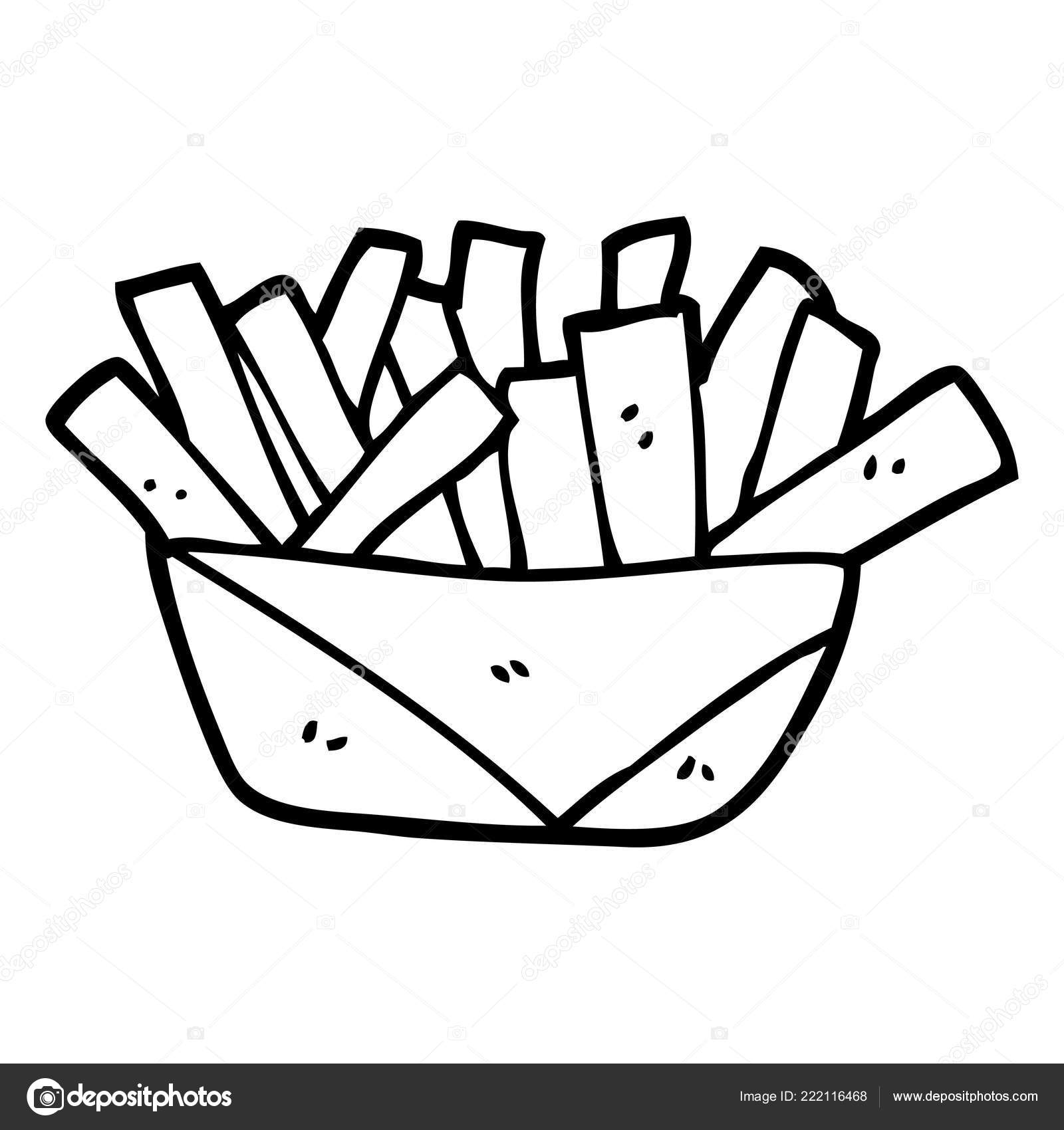 clipart french fries black and white black white cartoon french fries stock vector c lineartestpilot 222116468 https depositphotos com 222116468 stock illustration black white cartoon french fries html