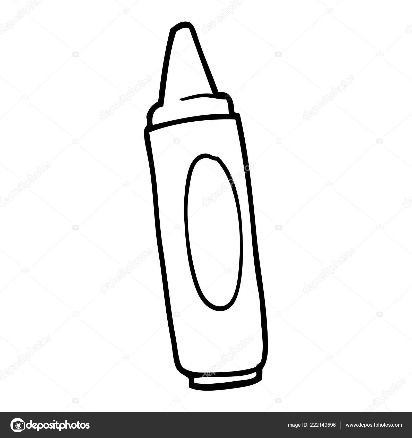 Lápices Colores Para Colorear Dibujos Animados Dibujo Línea