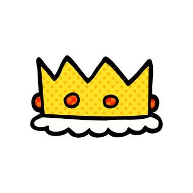 cartoon doodle royal crown