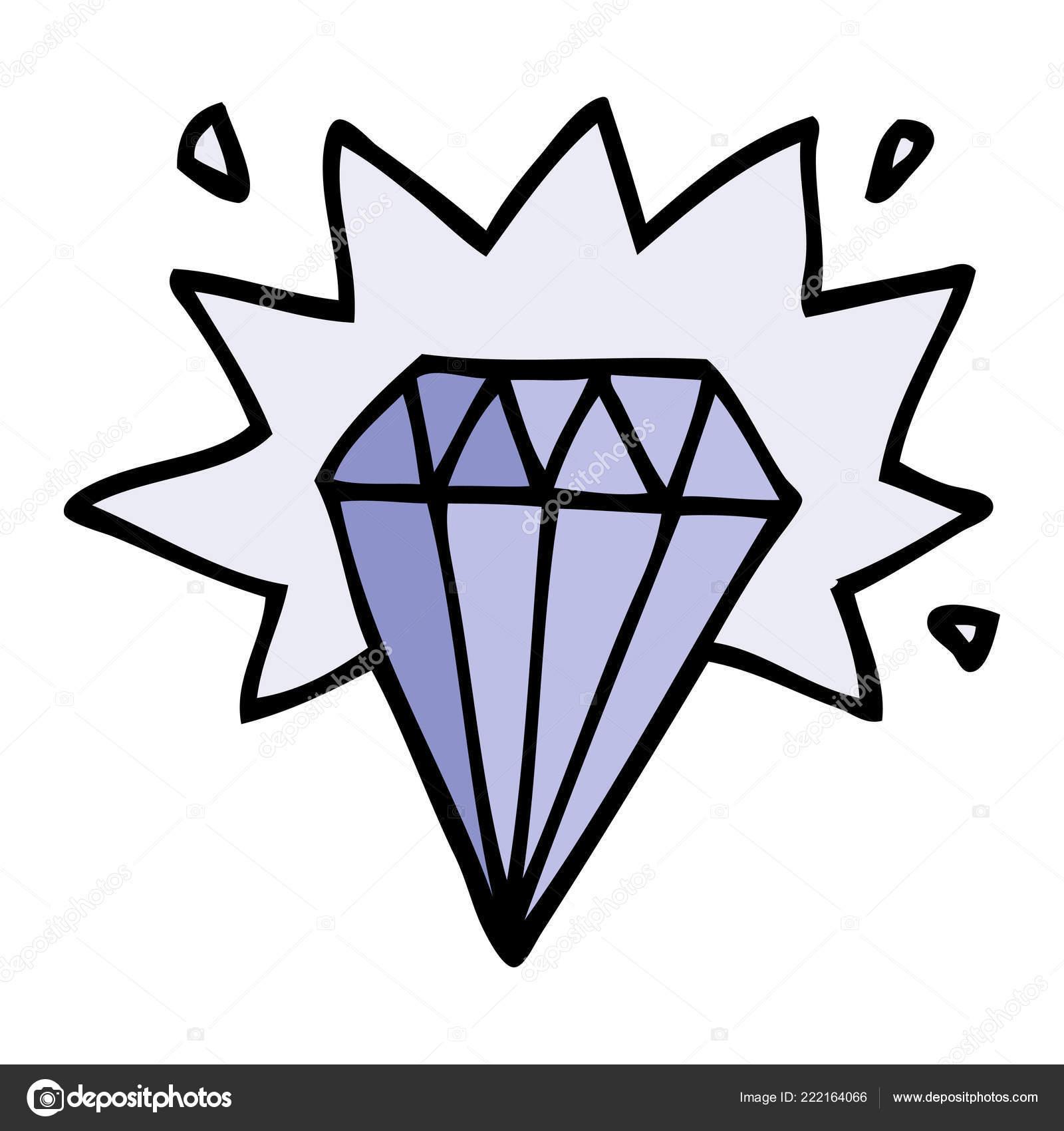 Desenhos Animados Doodle Tatuagem Diamante Vetores De Stock