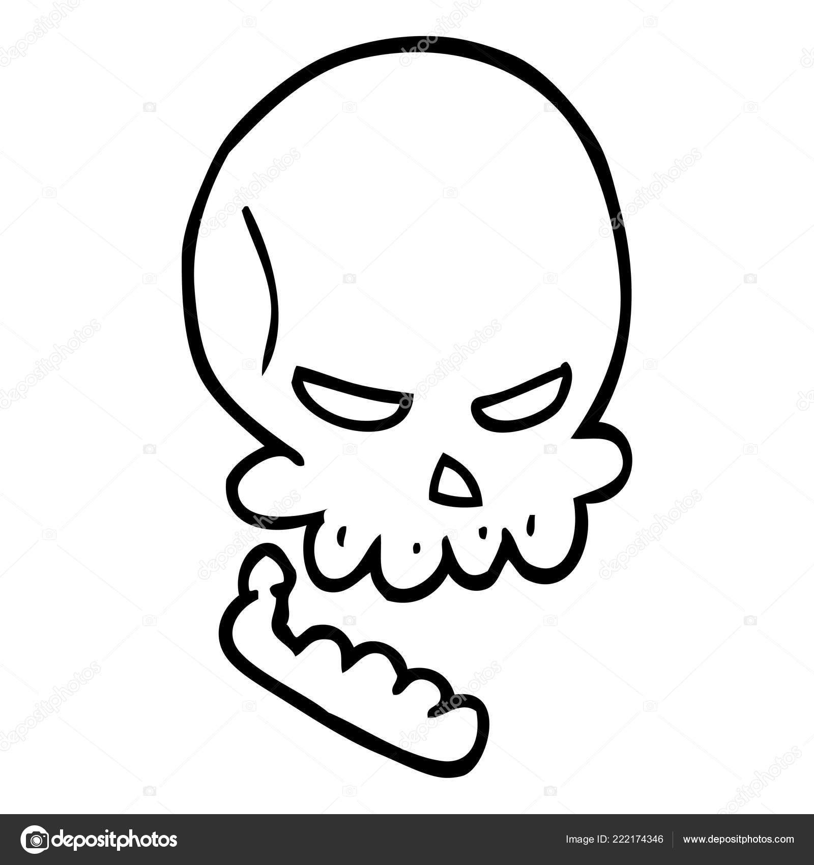 Featured image of post Cartoon Skeleton Head Drawing