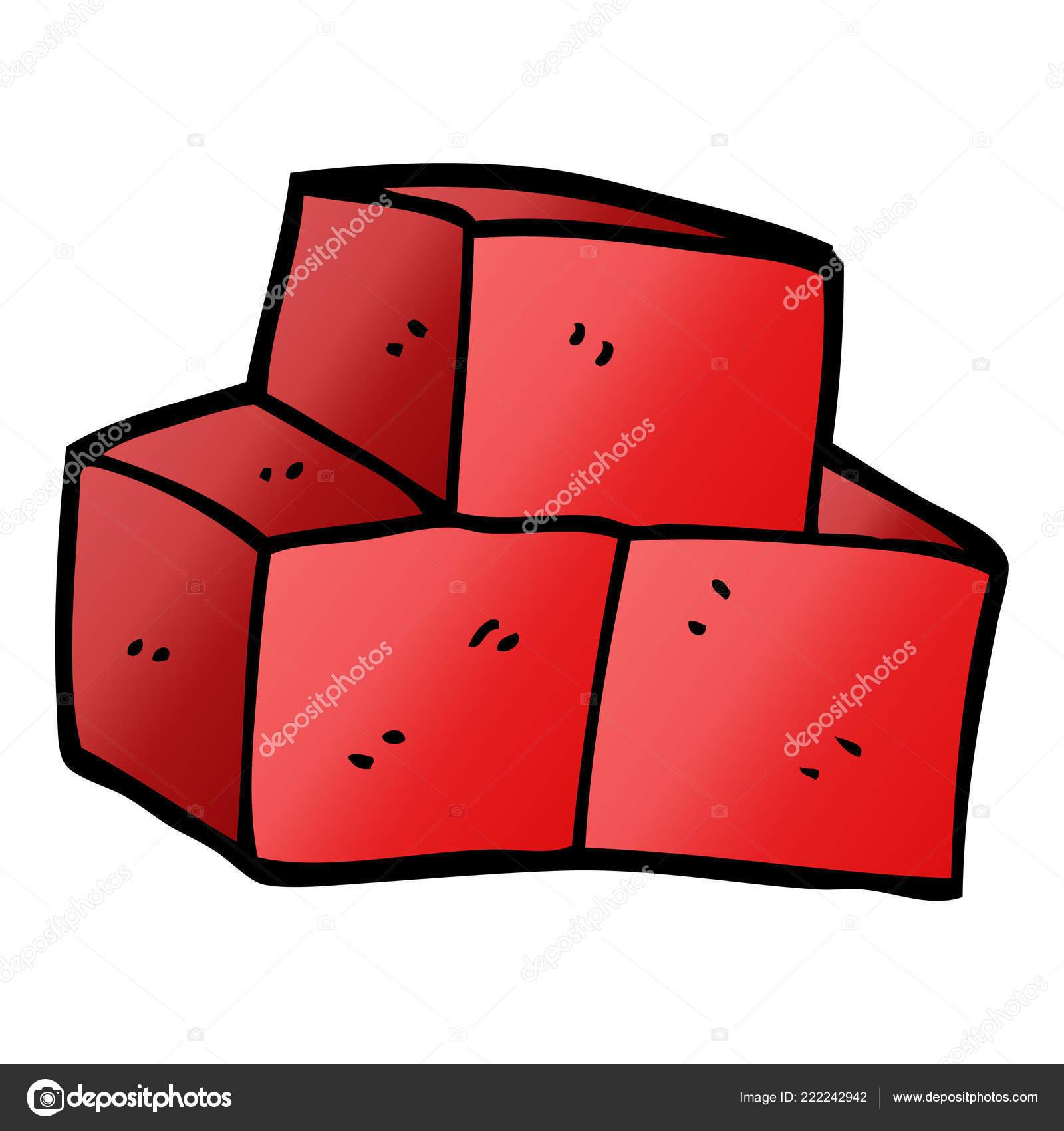 Cartoon Doodle Stacked Bricks Stock Vector C Lineartestpilot 222242942