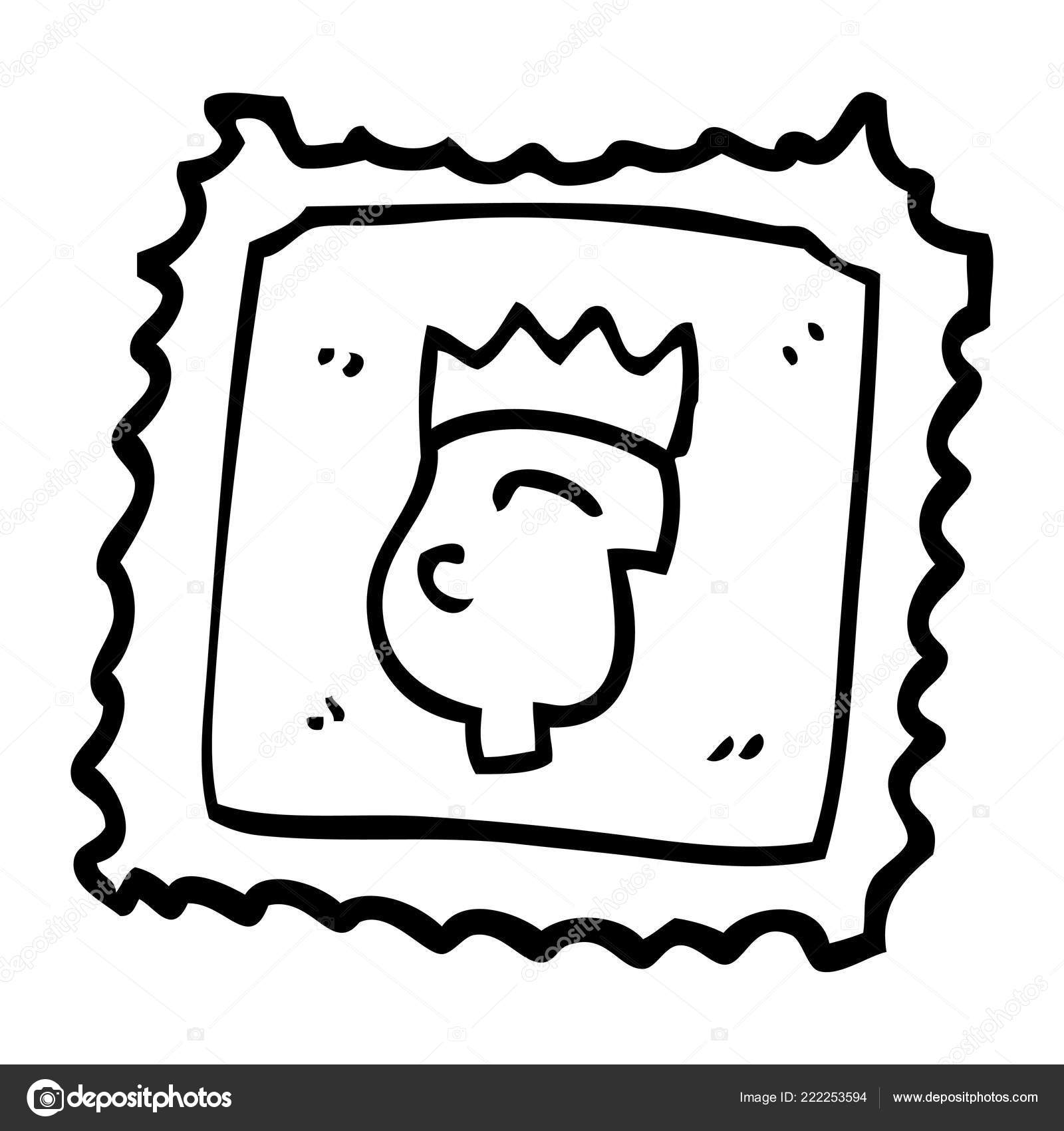 Carton King Stamp Vector Illustration Stock