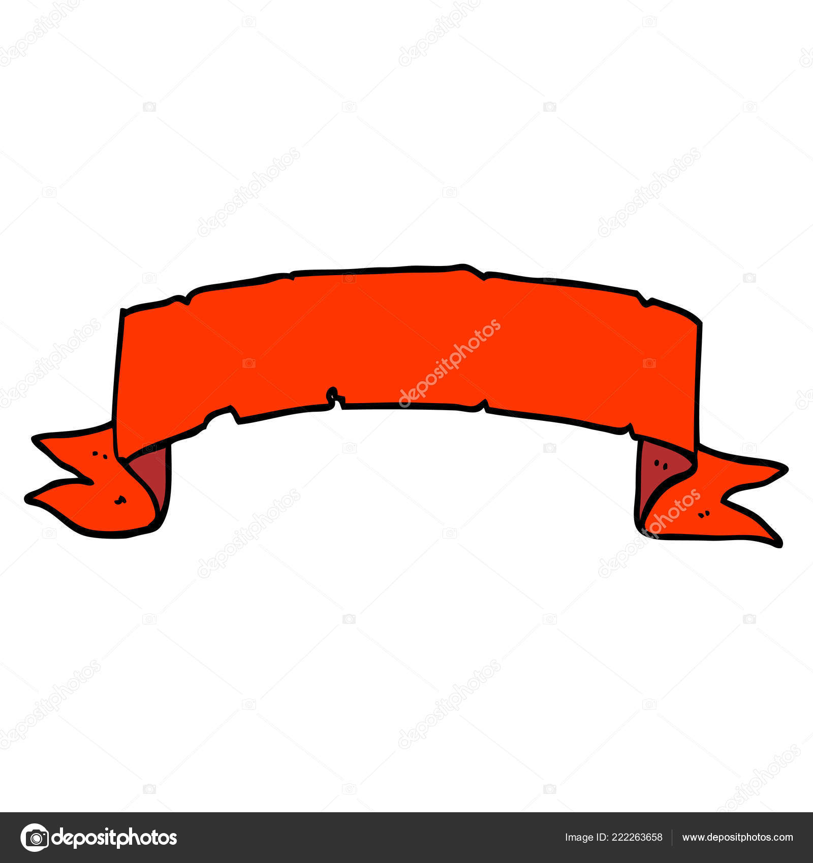 Cartoon Doodle Scroll Banner Vector Image By C Lineartestpilot Vector Stock 222263658