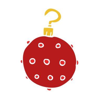 cartoon doodle red bauble