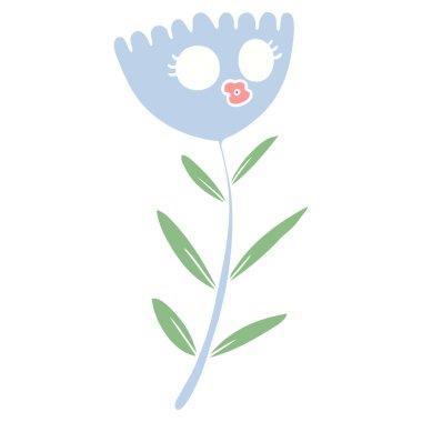 flat color style cartoon flower dancing