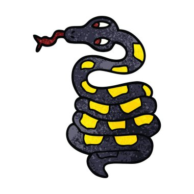 cartoon doodle poisonous snake