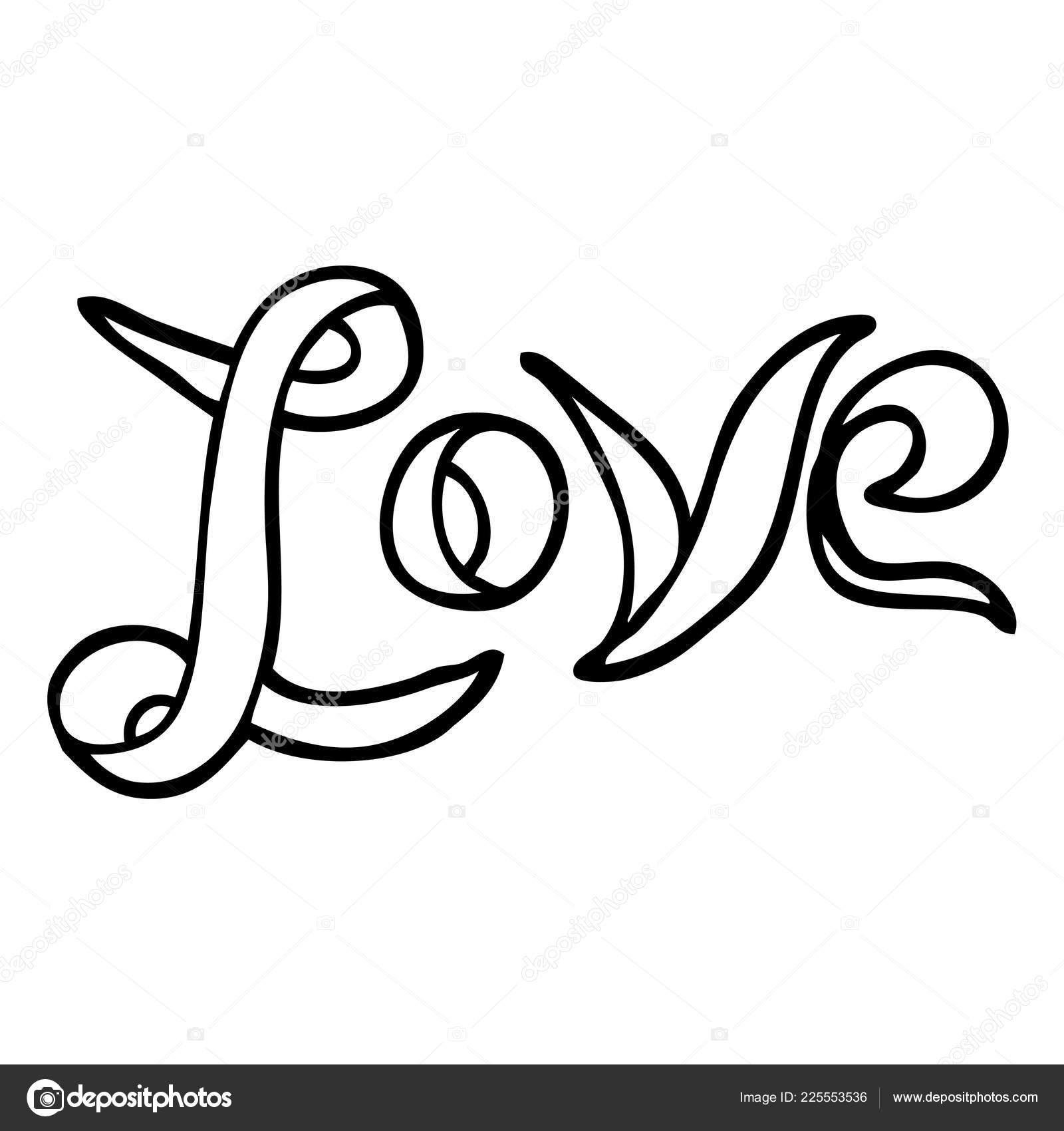Bannière Dessin Animé Noir Blanc Amour Image Vectorielle