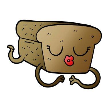 cartoon doodle loaf of bread