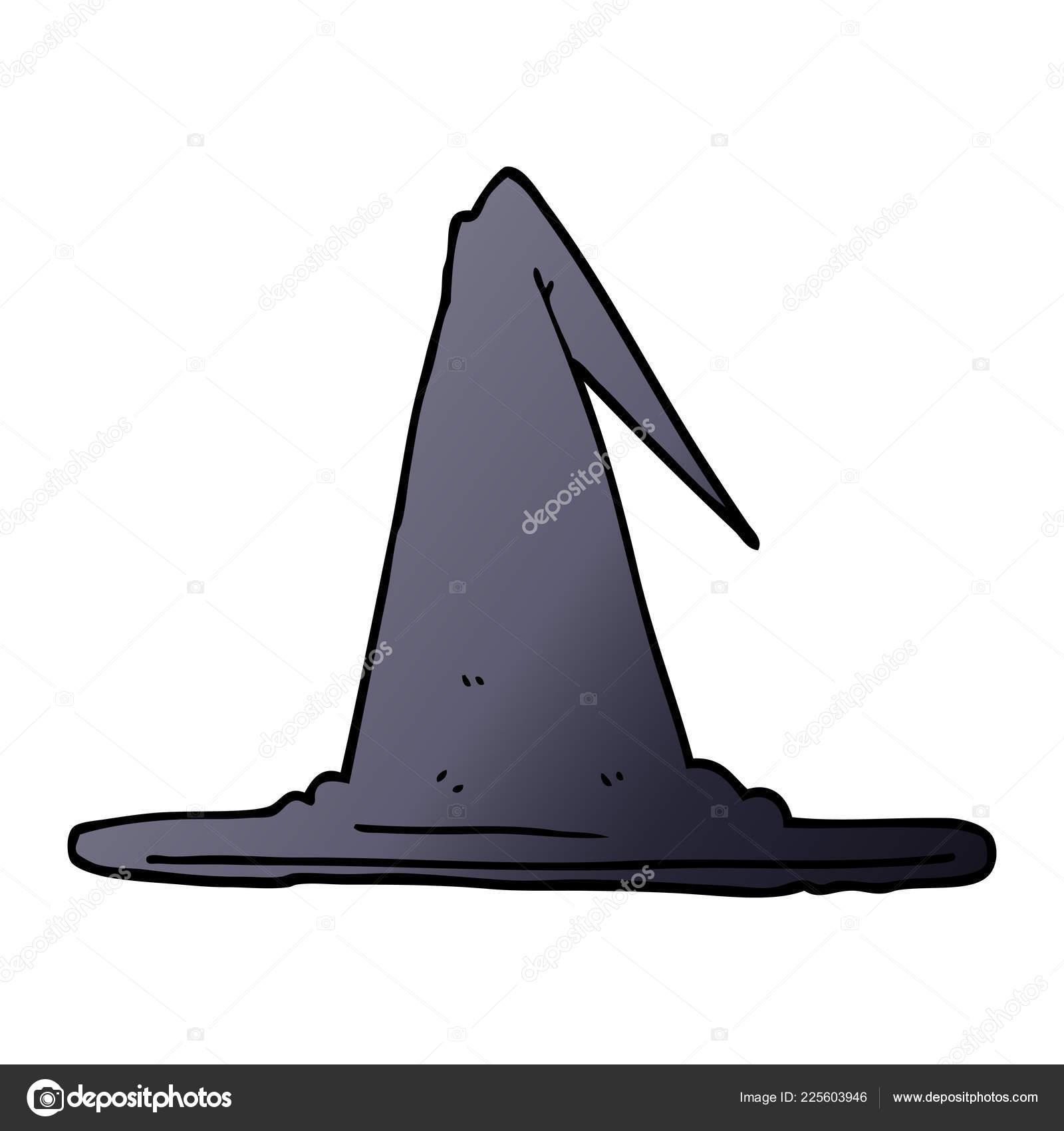 Chapeau Sorcière Doodle Dessin Animé Image Vectorielle