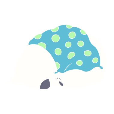 "Картина, постер, плакат, фотообои ""плоский цвет мультяшный белый медведь спит постеры картины бабочки"", артикул 225600896"
