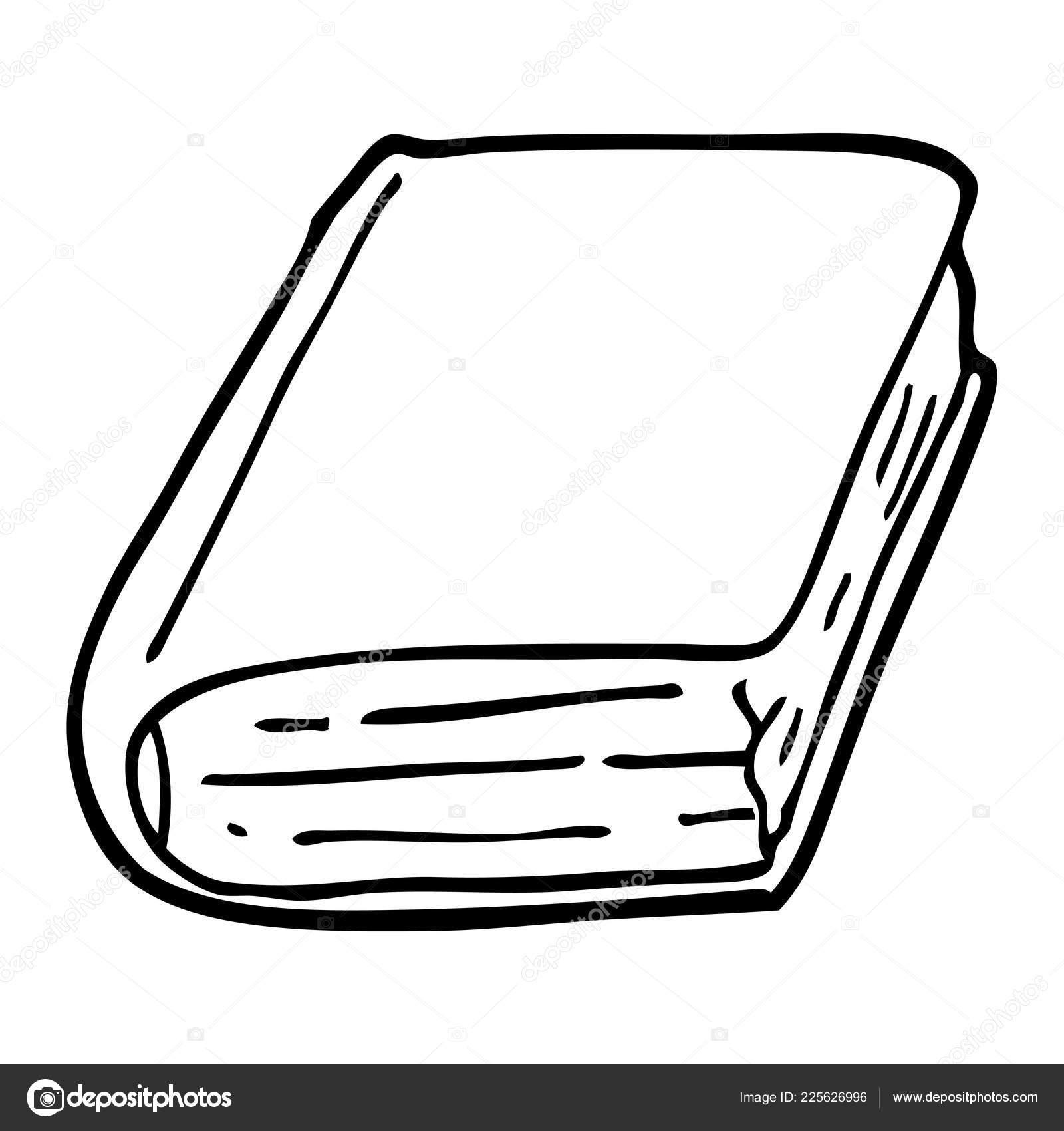 Livre Ancien Dessin Anime Noir Blanc Image Vectorielle