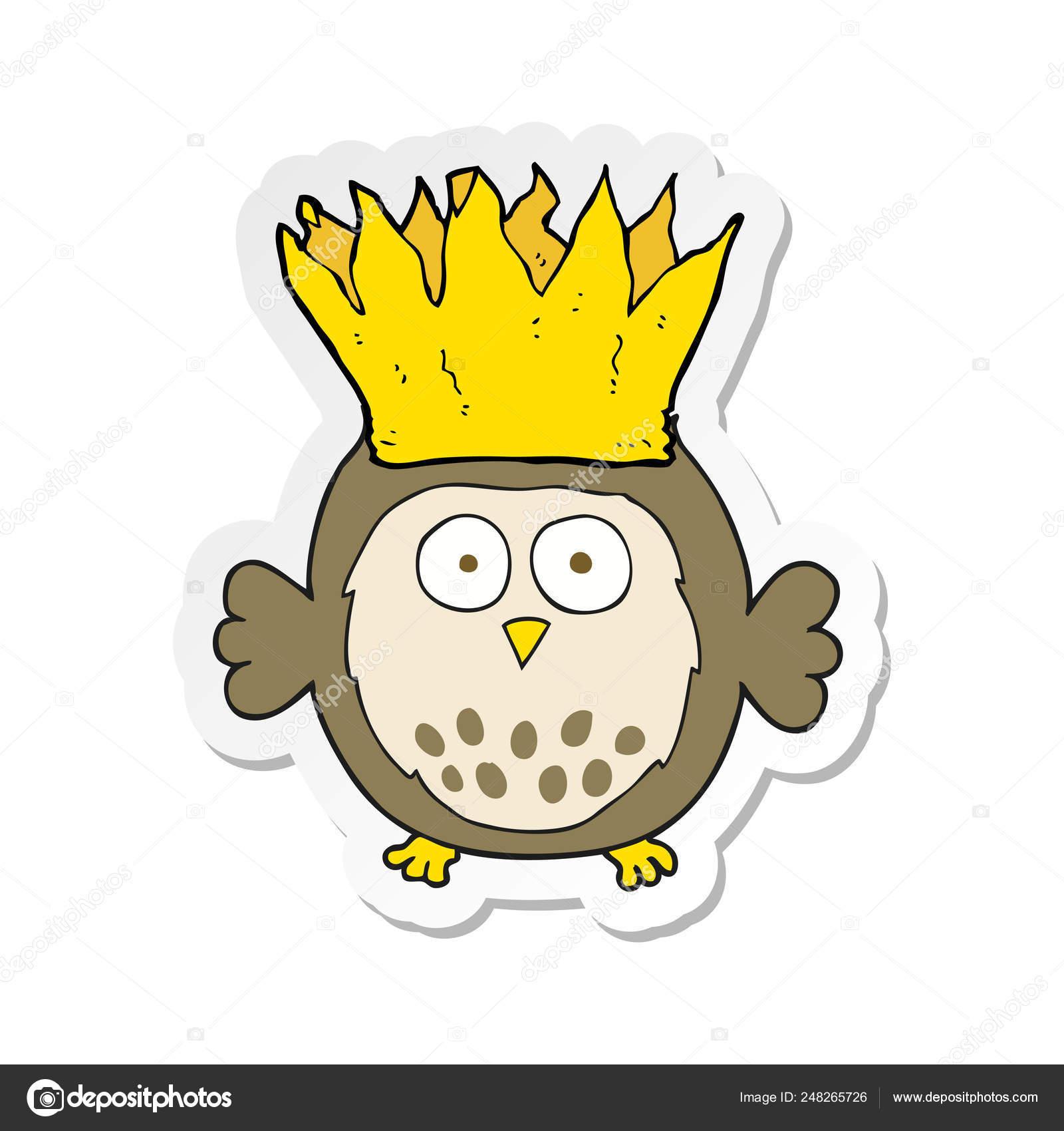 Sticker Cartoon Owl Wearing Paper Crown Christmas Hat Stock Vector C Lineartestpilot 248265726 42,000+ vectors, stock photos & psd files. https depositphotos com 248265726 stock illustration sticker cartoon owl wearing paper html