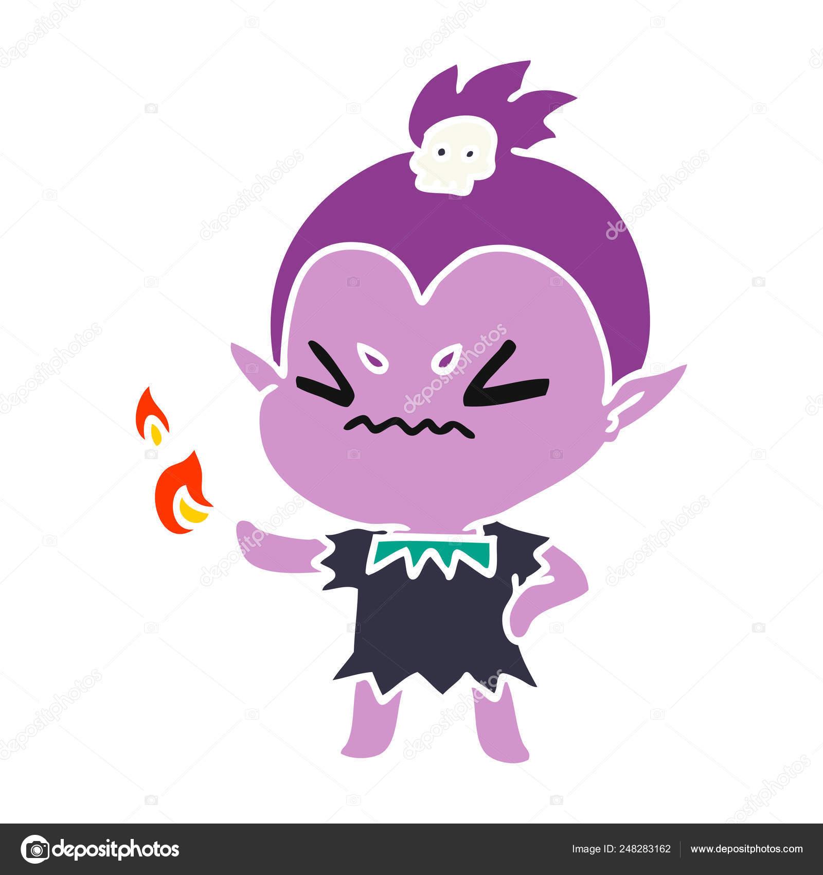 Dessin Animé De Fille Vampire Kawaii Mignon Image