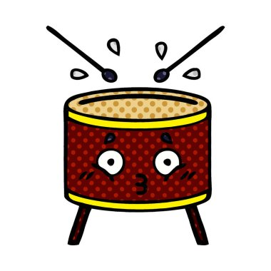 comic book style cartoon drum